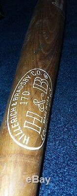 VINTAGE ROBERTO CLEMENTE BASEBALL BAT GENUINE HILLERICH BRADSBY WEIGHS oz TPHLC