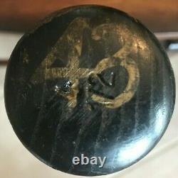 VINTAGE Raul Mondesi Hoosier Game Used Signed cracked / broken Bat