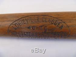 VTG 1920's DETROIT TIGERS TY COBB HILLERICH & BRADSBY 35 DECAL BASEBALL BAT