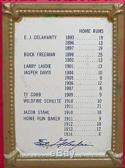 (VTG) 1960s PABST BEER BASEBALL SIGN HOME RUN BAKERS BAT & TY COBB TIGERS RARE