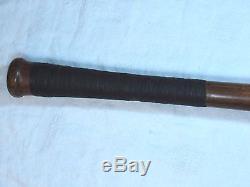 Vtg Early Louisville Slugger Ty Cobb 40tc Baseball Decal Bat Dash Dot Dash Wood
