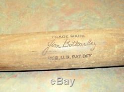 VTG Louisville Slugger Baseball Bat Hillerich & Bradsby Jim Bottomley 30's 33
