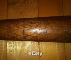 VTG RARE 1930s-40s J. A. DUBOW No. 15 RUTH STYLE 36 in. Baseball Bat V. G. Cond