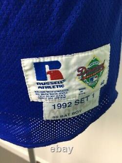 VTG Russell Athletic 1992 Bat Boy Baseball Jersey USA Diamond Collection 42