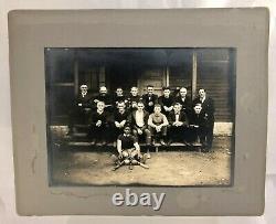 Vintage 1900s African American Bat Boy Labor Baseball Team Photo Social History