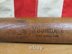 Vintage 1905 AG Spalding Bros. Wood Mushroom Baseball Bat Antique 35 Rare Nice