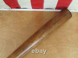 Vintage 1910s Antique Handcrafted Wood Baseball Bat'S' Brand 35 Great Display