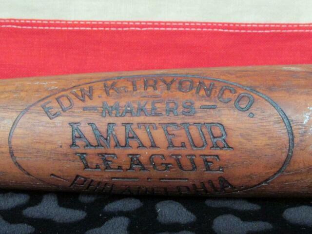 Vintage 1910s Edw. K. Tryon Co. Wood'amateur League' Baseball Bat 33 Antique