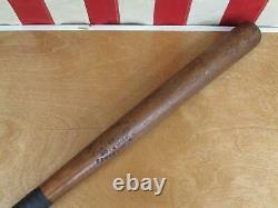 Vintage 1910s Joseph G. Kren Wood Baseball Bat Playground 33 Syracuse, NY Antique