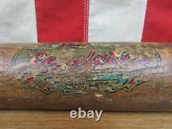 Vintage 1910s King Of The Field H&B Wood Decal Baseball Bat Regulation League 34