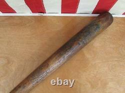 Vintage 1910s Mascot Wood Decal Baseball Bat Hilton Collins Co. Tim Hendryx 34