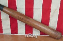 Vintage 1910s Spalding Wood Autograph Baseball Bat Miller J. Huggins HOF 32 Rare