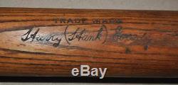 Vintage 1920's Hank Gowdy 40k Pro Model Hillerich Bradsby Baseball Bat Braves