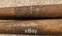 Vintage 1920s Hillerich & Bradsby Bats 125 & 250 FOXBORO & RI baseball Teams