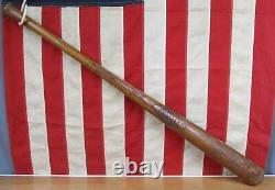 Vintage 1920s Joseph G. Kren Wood Clouter Baseball Bat Dick Porter Model 36 Rare