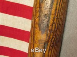 Vintage 1920s Keystone League Wood Baseball Bat C. Prouty & Co. Eldred, PA Rare 35
