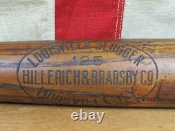 Vintage 1920s Louisville Slugger H&B Wood 125 Baseball Bat Long Name Brand 35