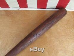 Vintage 1920s Louisville Slugger Wood Baseball Bat HOF Eddie Collins 34 40EC