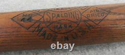Vintage 1920s Wood Playground 44 Air Dried SPALDING Sport Baseball Bat RARE