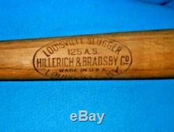 Vintage 1930's Al Simmons 36 Louisville Slugger 125 A. S. Baseball Bat