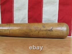 Vintage 1930s AJ Brecher Wood Baseball Bat No. 8 Professional 35 Powell, PA. Rare