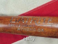 Vintage 1930s BatRite Wood Baseball Bat Mel Ott HOF Hanna Mfg Co. 35 Athens, GA