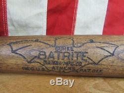 Vintage 1930s Batrite Hanna Wood Baseball Bat Beaver Driver HOF Paul Waner 35