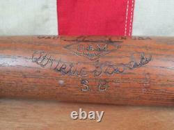 Vintage 1930s Draper Maynard D&M Wood Baseball Bat Lucky Dog Brand Softball 33