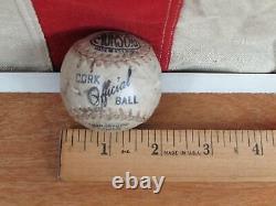 Vintage 1930s Hillerich & Bradsby Cork Ball Baseball Bat 37 with Munson Cork Ball
