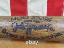 Vintage 1930s John Wanamaker Mens Store Wood Baseball Bat Antique 34 Phila, PA