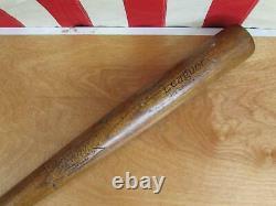 Vintage 1930s Pennant Wood Baseball Bat No. 305 Leaguer HOF Joe Cronin Model 36