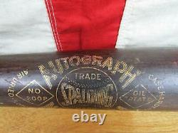 Vintage 1930s Spalding Wood Autograph Baseball Bat Diamond Logo Robert Rolfe 34
