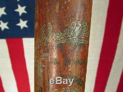 Vintage 1930s Spalding Wood Decal Baseball Bat Adolph Dolph Camilli Resilite 34
