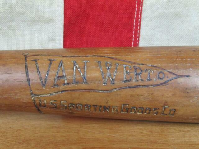 Vintage 1930s Van Wert Ohio Sporting Goods Co. Wood Baseball Bat 33 Rare Antique