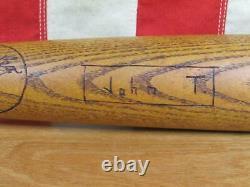 Vintage 1930s W. Bingham Co. Wood Double Header Baseball Bat 34 Antique Cleveland