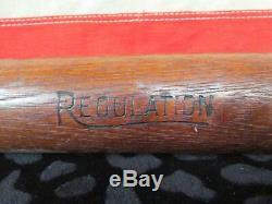 Vintage 1930s Yale Wood Regulation Baseball Bat K50 Model 34 Moneco Co. Antique