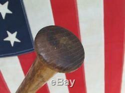 Vintage 1940s Adirondack Wood Baseball Bat Babe Ruth Style 35 Reverse Brand