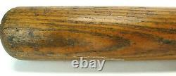 Vintage 1940s Adirondack Wood Baseball Bat Lou Gehrig Style 34 Reverse Brand