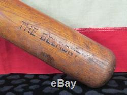 Vintage 1940s Blackman & Burchfield Wood Baseball Bat The Belmont 35 Belmont, NY