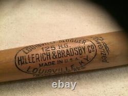 Vintage 1940s Louisville Slugger 125 H. G. Hank Greenberg Professional Baseball