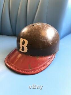 Vintage 1950's Brown University American Baseball Cap Batting Helmet Fiberglass