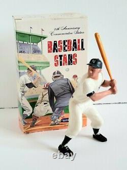 Vintage 1950s Hartland 25th Anniv Commemorative Mickey Mantle Statue w Bat & Box