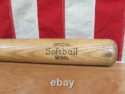 Vintage 1960s Joe Dimaggio Line Wood Baseball Bat Hillcrest Sporting Goods 33