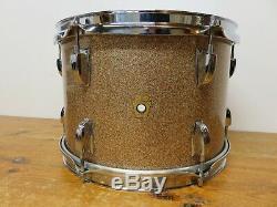 Vintage 1966 Ludwig Champagne Sparkle 8x12 Tom Drum White Baseball Bat Muffler