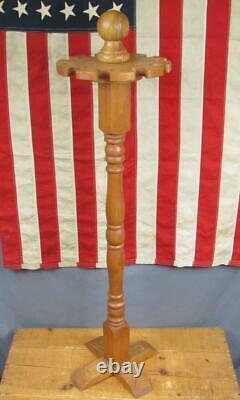 Vintage 1970s Baseball Bat Display Rack Wood Handcrafted 10 Bat Rotary Top Nice