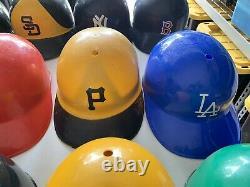 Vintage 1970s Lot of 15 MLB Baseball Replica Full Size Batting Helmets By Laich