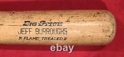 Vintage 1980 Jeff Burroughs Atlanta Braves Signed Game Used Baseball Bat Rangers