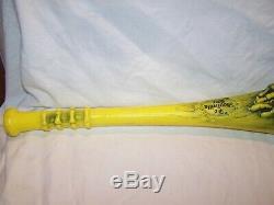 Vintage 1986 Madballs Yellow Ghouliville Bat Marchon Plastic Baseball Bat