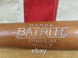 Vintage 40s Hanna Batrite Wood Baseball Bat HOF Luke Appling Model 30 White Sox