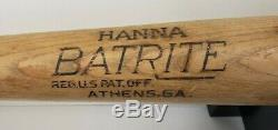 Vintage 50s Hanna Batrite No. HF Aaron Style Baseball Bat